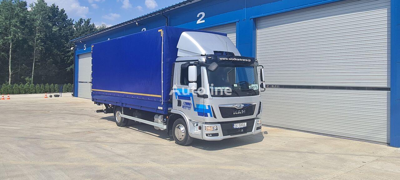 тентованный грузовик MAN TGL 8.180 E6 PALFINGER klima